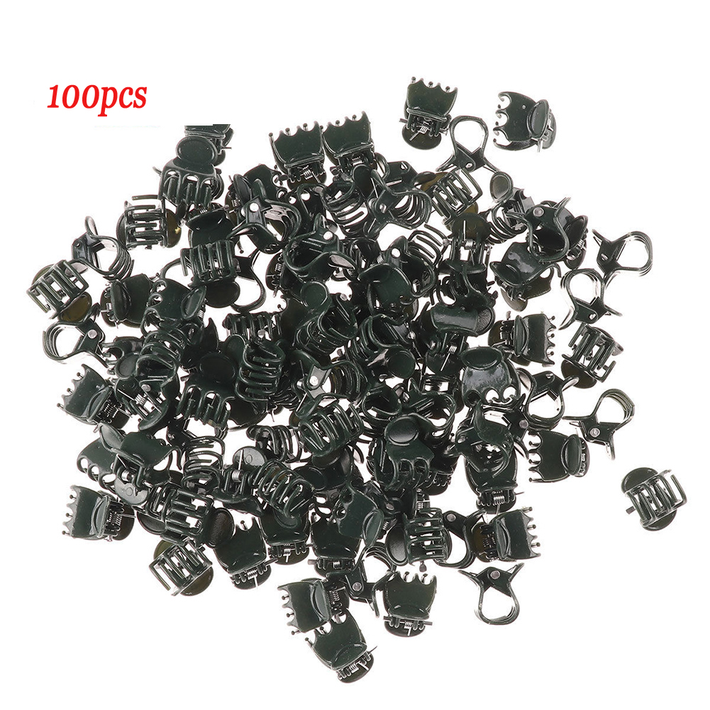 100Pcs Plastic Flower Grow Upright Garden Tools Vines Stem Clips Stalks Mini Plant Support