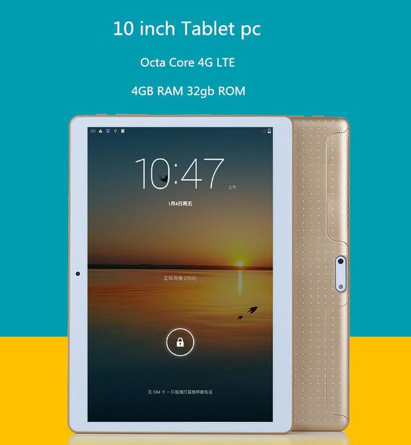 DHL free shipping 2016 Newest 10 inch Tablet PC Octa Core MTK8752 4G Phone Call Tablet 4GB RAM 32GB ROM 1280*800 mini PAD