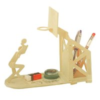 5pack Wooden Basketball Pen Holder Woodcraft Construction Kit Assembling Puzzle Toy