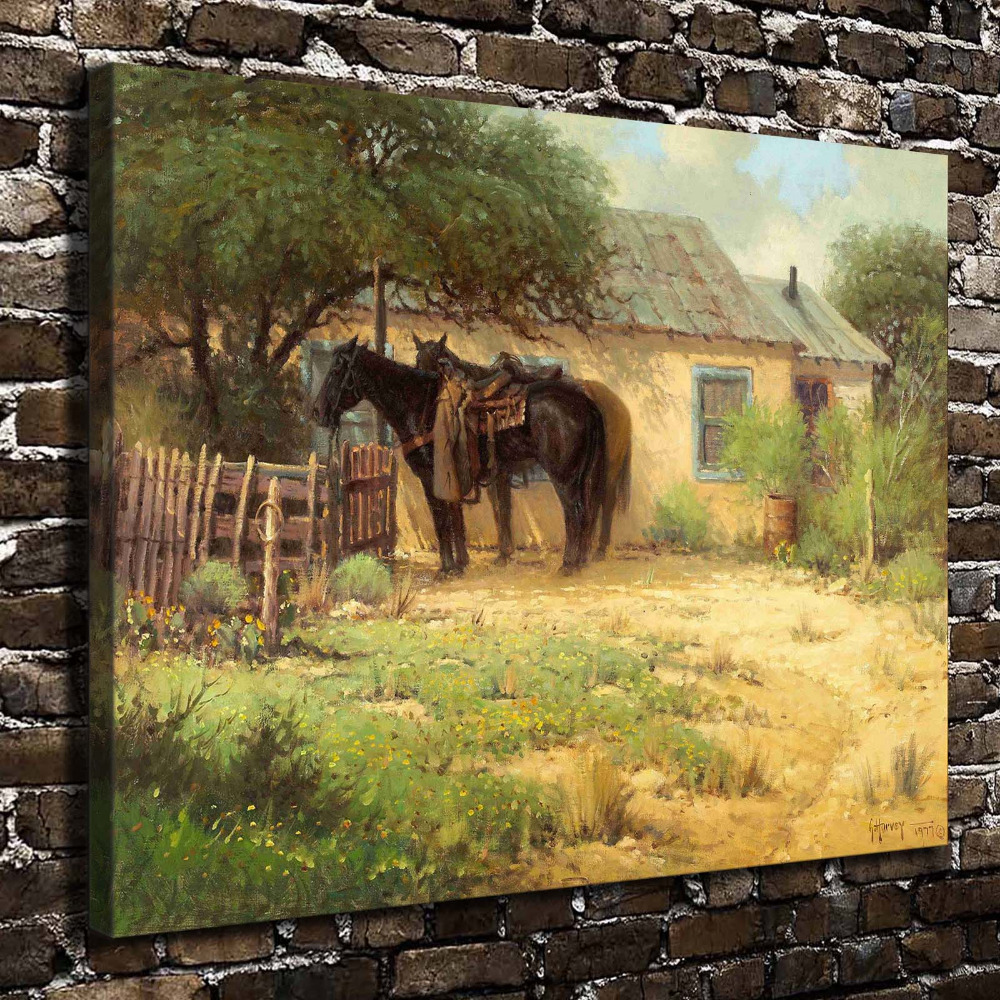 A2592 Natural Scenery Horse Animal House. HD Canvas Print Home ...