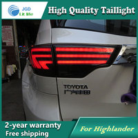 Car Styling 2015 Highlander Taillights New Highlander LED Tail Lamp Rear Lamp DRL+Turn Signal+Brake+Reverse auto Accessories