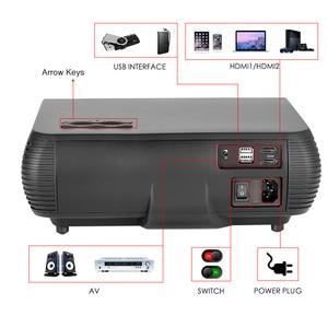 Image 3 - Poner Saund M2 LED 4K 2K 1080P FULL HD projector 6500 Lumens 3D Home Theatre Android 6.0 Bluetooth 5G WIFI HDMI USB AV Vs led 86