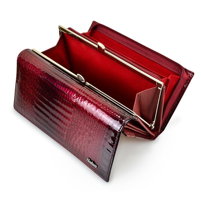 HH Echtem Leder Frauen Geldbörsen Alligator Lange Haspe Zipper Wallet Damen Clutch Tasche Geldbörse 2019 Neue Weibliche Luxus Geldbörsen