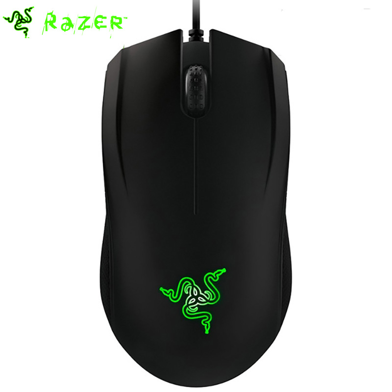 Prix pour Razer abyssus 2014 ambidextre ordinateur souris de jeu 3500 dpi capteur optique 3 programmable hyperesponse boutons noir/blanc