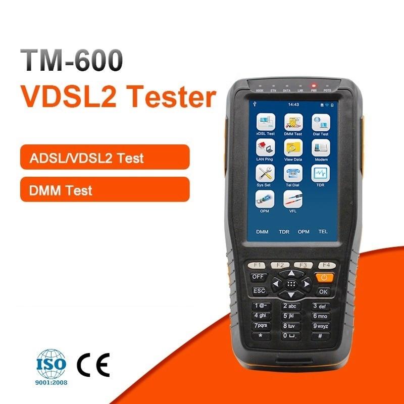 TM-600 De Base VDSL VDSL2 Testeur pour xDSL Ligne test et La Maintenance Outils (ADSL/ADSL2/ADSL2 +/ VDSL2/READSL avec DMM Fonction)