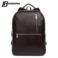 BOSTANTEN 2017 Designer Genuine Leather Men's Backpacks Bolsa Mochila for Laptop Notebook Computer Bags Men School Rucksack