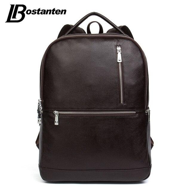 Bostanten 2017 дизайнер из натуральной кожи мужские рюкзаки bolsa mochila для ноутбук ноутбука сумки мужчины школьный рюкзак