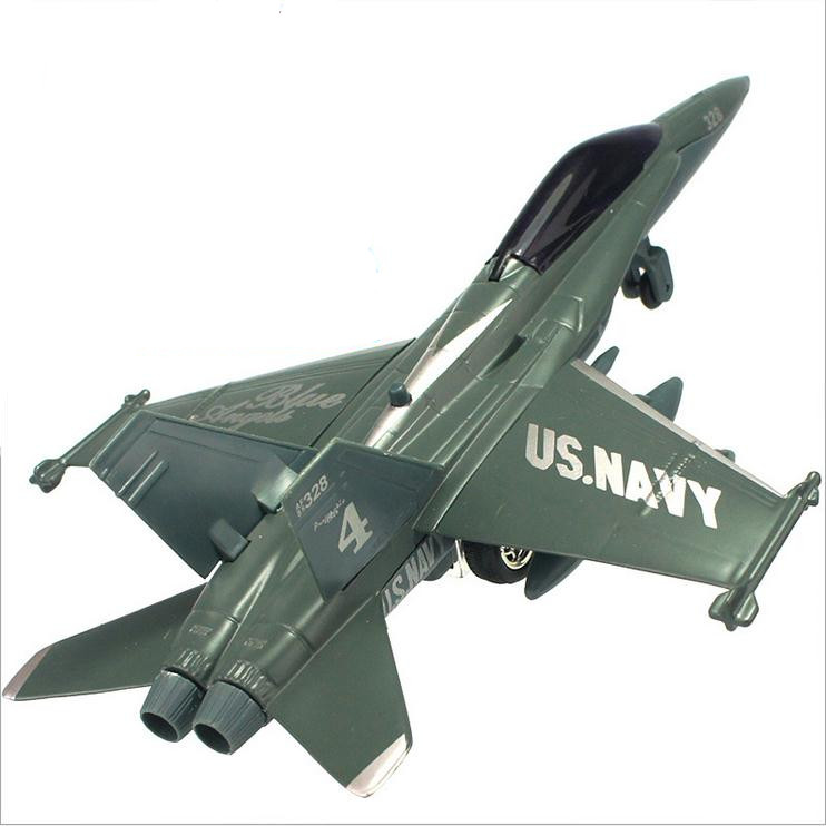 High simulation fighter <font><b>F18</b></font>,1: 72 alloy pull back aircraft model, metal diecasts, music flash model toys, free shipping image