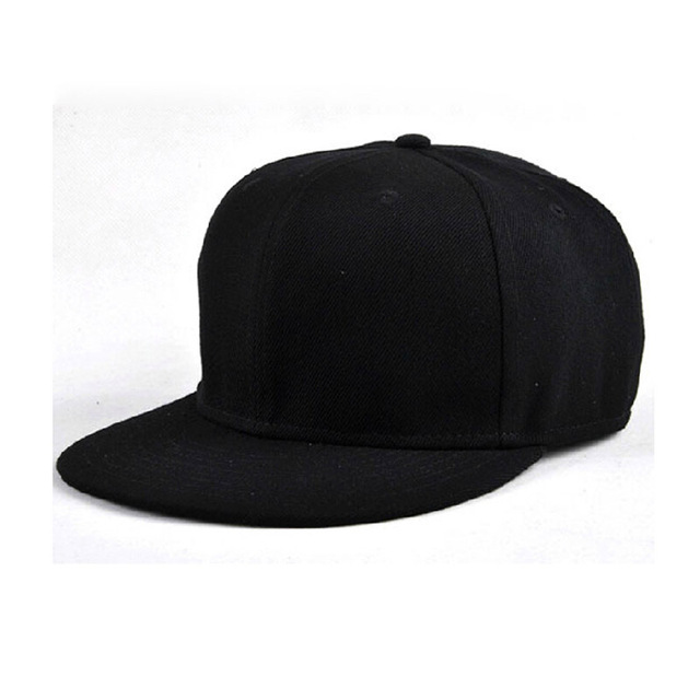Full close cap fitted closure hat children small size 55cm big size 62cm sport flat bill hip hop trucker tennis baseball hat