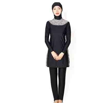 Women Plus Size Floral Muslim Swimwear Hijab  Islamic Swimsuit Swim Surf Wear Sport Burkinis