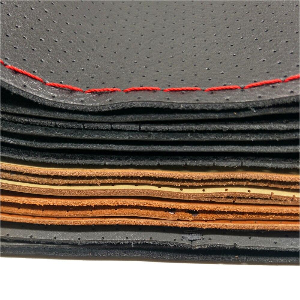 Hand naaien Stuurbedekking Automotive lederen stuurwiel Cover Stuur - Auto-interieur accessoires - Foto 4