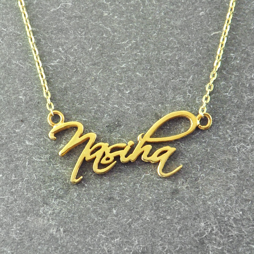 item signature necklaces custom necklace accessories charm pendant in handmade on gold sterling color jewelry name personalized from