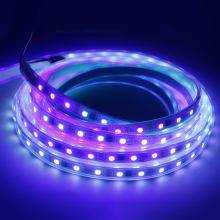 led strip DC12V WS2811 SMD5050 RGB Flexible addressable Digital 60leds/m led pixels strip lights tape external ic 5m/roll W/B