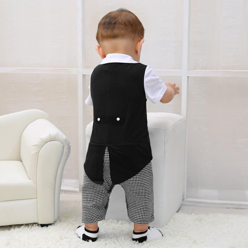 Baby Gentleman Romper Spring Baby Newborn Clothes European Style Mamelucos Para Bebes Casual Cartoon Infant Clothing