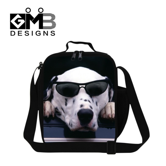 Best Zoo Animal Dog Prinited Insulated Lunch Bag For Boys Thermal Box Men