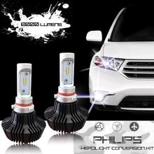 7S H7 LED Bulb Headlight Conversion Kit - 50W 8000Lumen 6500K White - Base Reversible - Brightest Lumileds Chip for Replace HID