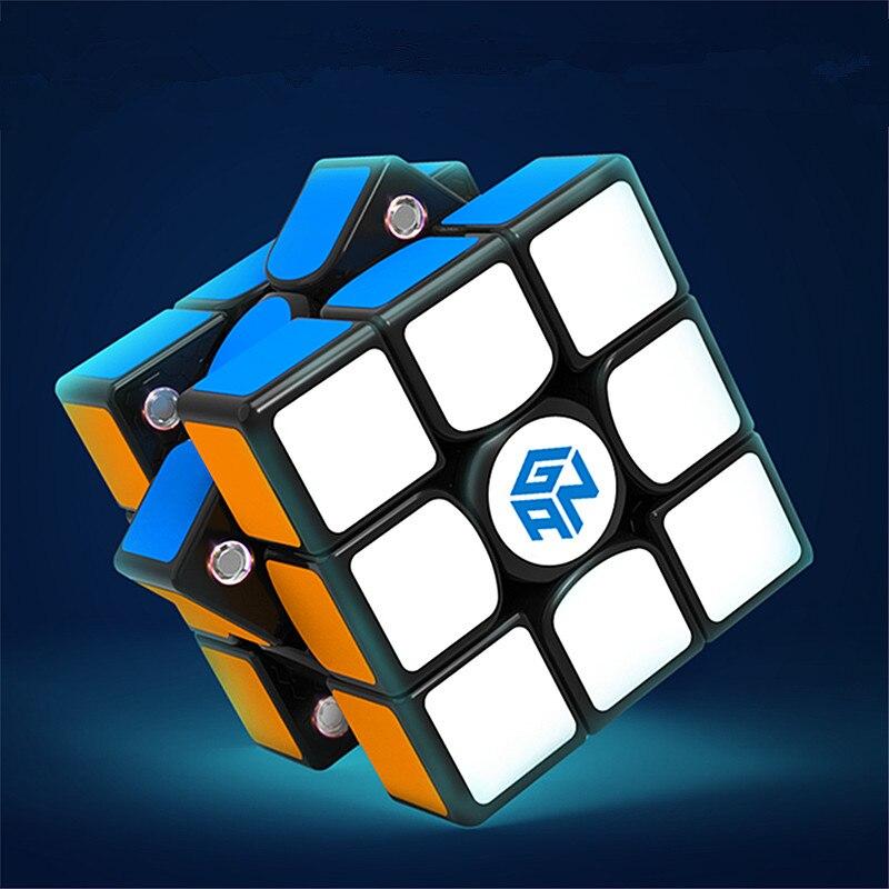 Original nouveau GAN356 X magnétique magique vitesse Cube professionnel 3x3 IPG V5 Magico Cubo échange aimants Puzzle noir sans bâton - 4