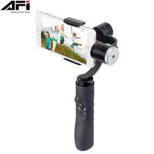 Купить с кэшбэком AFI V3 3-Axis Gimball Dslr Stabilizer For Phone Handheld Smartphone For Iphone X 8Plus 8 7 6 Samsung S9 S8 S7 & Action Camera
