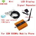 Pantalla LCD + 13dbi yagi! teléfono móvil mini GSM 900 mhz teléfono celular amplificador de señal GSM repetidor de la señal del amplificador