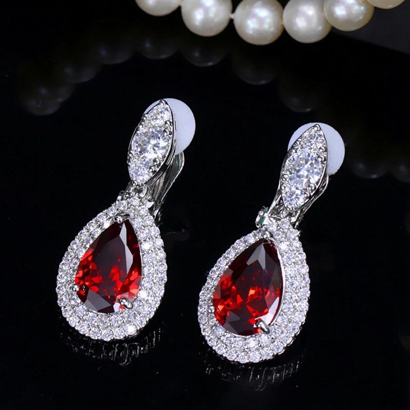 red clip earrings