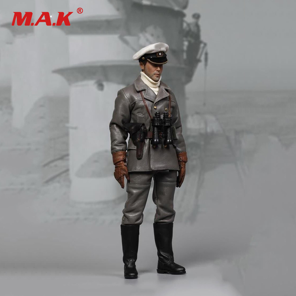 1/6 Scale WWII Soldier Figure German U-Boat Captian Man Doll Model Toys Full Action Figure For Collection 1 6 scale nude male body figure muscle man soldier model toys for 12 action figure doll accessories