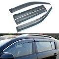 4 unids/lote Styling Car Vent Shade Sun Rain Guardia Cubierta de La Ventana Visor Para Toyota Prado 2010 2011 2012 2013 2014 2015 accesorios