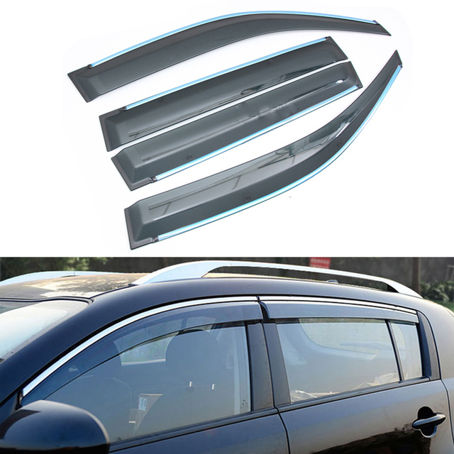 4pcs/lot Car Styling Vent Shade Sun Rain Guard Cover Window Visor For Toyota Prado 2010 2011 2012 2013 2014 2015 Accessories