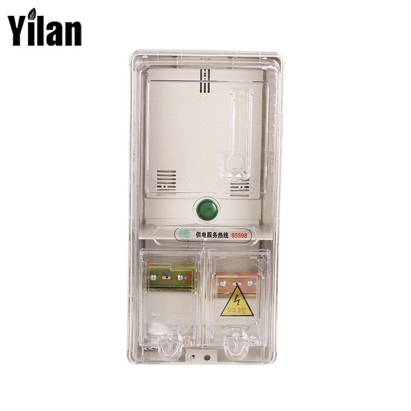Anti-theft PC Material Card Meter Single-phase Transparent Smart Electric Meter Box 3502080 canemu anti theft simulator