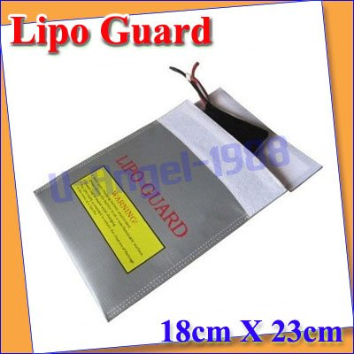 LiPo RC Battery Safe Guard bag Charging Sack save pack 18cm x 23cm+free shipping