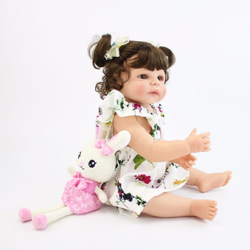 55 Cm Full Body Silikon Reborn Boneka Bayi Mainan untuk Anak Perempuan  dengan Harga Murah Bonecas Yang Baru Lahir BEBE Hidup Bayi Hadir Hadiah  mandi Mainan ... 992ef97073