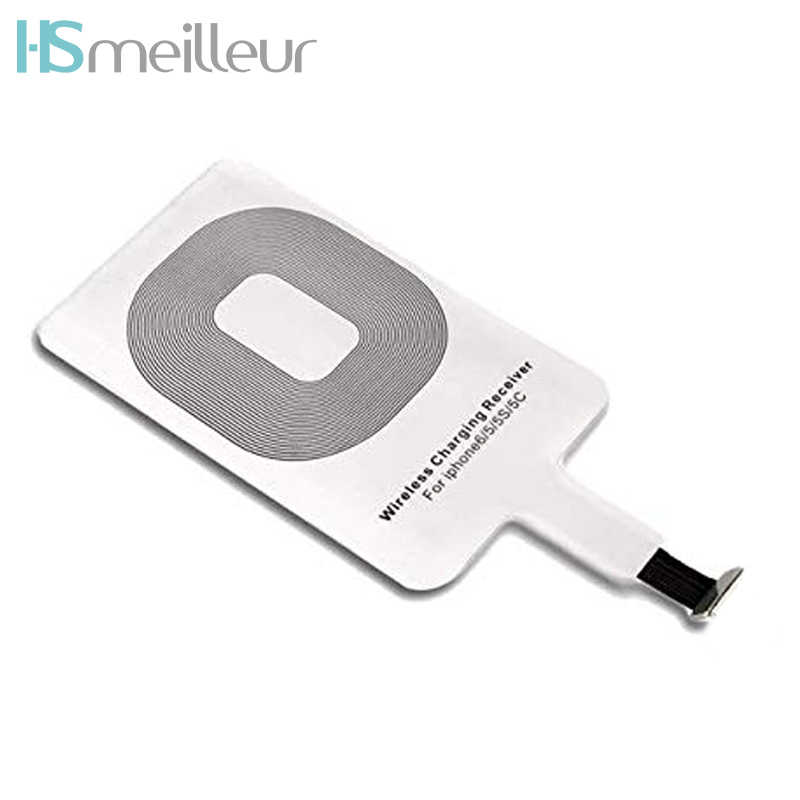 Hsmeilleur Qi Wireless Charger Receiver สำหรับ iPhone 7 6 6 วินาที Plus 5 5 วินาที se 5c 7 plus induction Charge อะแดปเตอร์ Patch Receptor