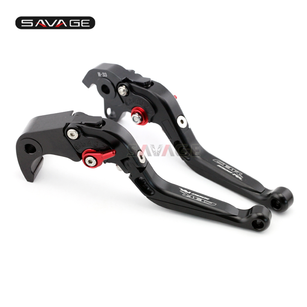Brake Clutch Lever For HONDA CBR 1000RR 2004-2007 05 06 Black Motorcycle Adjustable Folding Extendable Logo CBR1000RR