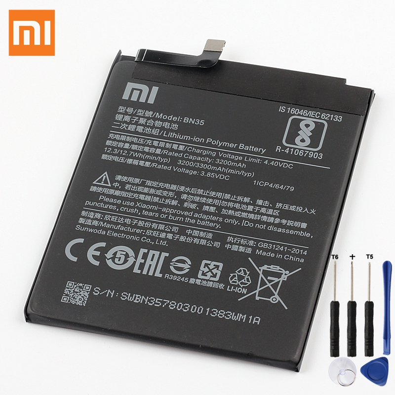 XiaoMi Original Replacement Battery BN35 For Xiaomi Mi Redmi 5 5 7 Redrice 100 New Authentic