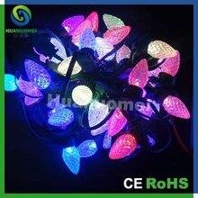 ip65 waterproof 2x50pcslot flashing digital rgb led string dc5v c9 led christmas lights diameter 25mm