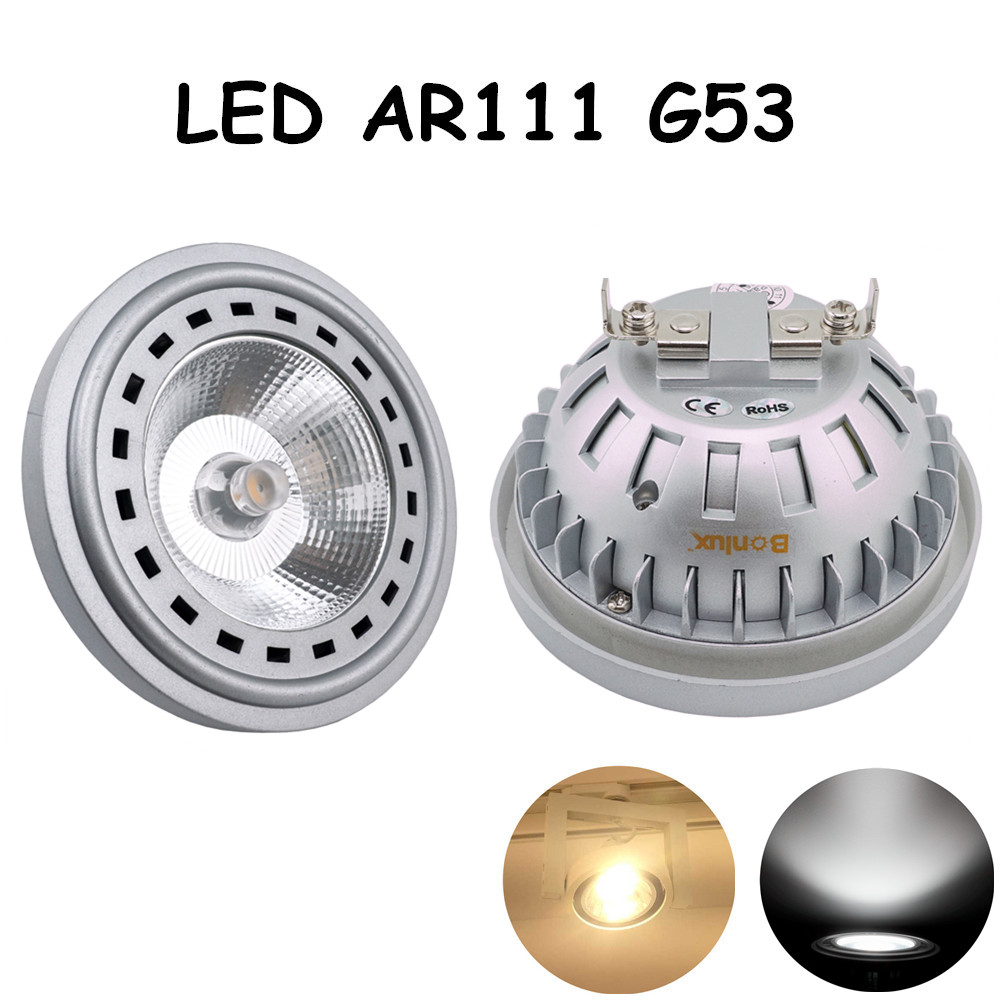 LED AR111 G53 12W AC 12-24V Light Bulb CREE COB Chip Led G53 Spotlight Bulb with 75-100W Halogen Equivalent