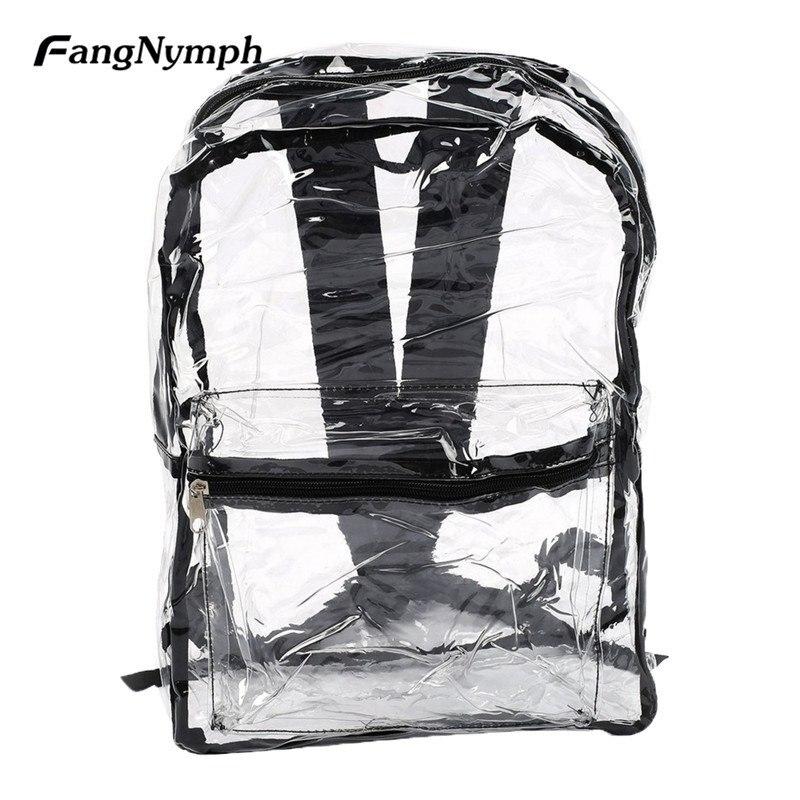 2019 Fashion Trend Women Transparent PVC Backpacks See Through Beach Bag Female Girl Clear Bagpack School Bags2019 Fashion Trend Women Transparent PVC Backpacks See Through Beach Bag Female Girl Clear Bagpack School Bags