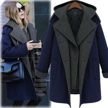 Women's Winter Jackets And Coat Elegant Warm False Two Pieces Long Woolen Coat Thicken Coat Plus Size 5xl Woman Coaabrigos Mujer