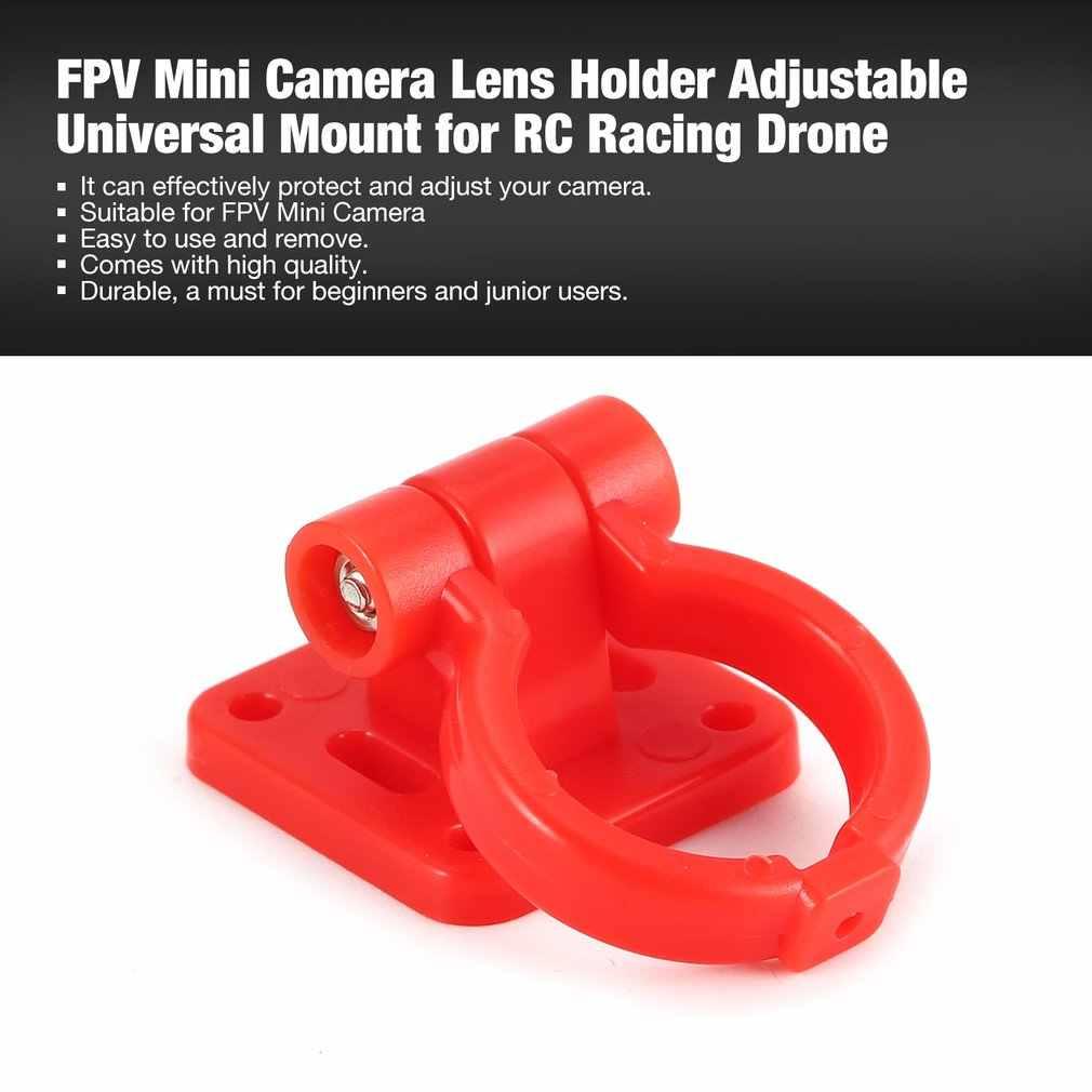 FPV Mini cámara Cámara lente soporte ajustable Universal montaje para RC Racing Drone Quadcopter aviones UAV repuestos accesorios