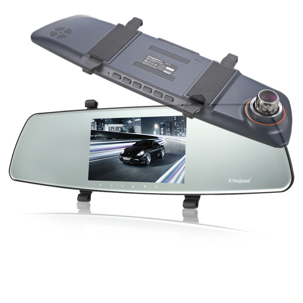 DVR Parking-Monitor Dash-Cam Driving Video-Recorder Car-Rearview-Mirror Touch-Screen