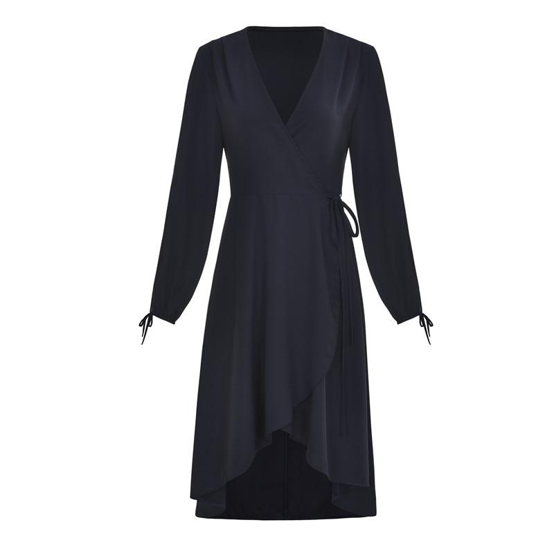 Lei SAGLY Fashion Women Long SLeeve Summer Dress High Quality Chiffon Dress Summer Dress 2019 in Dresses from Women 39 s Clothing