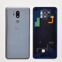 ZUCZUG Glass Rear Housing For LG G7 ThinQ G7+ Battery Cover Back Case With Fingerprint+Logo
