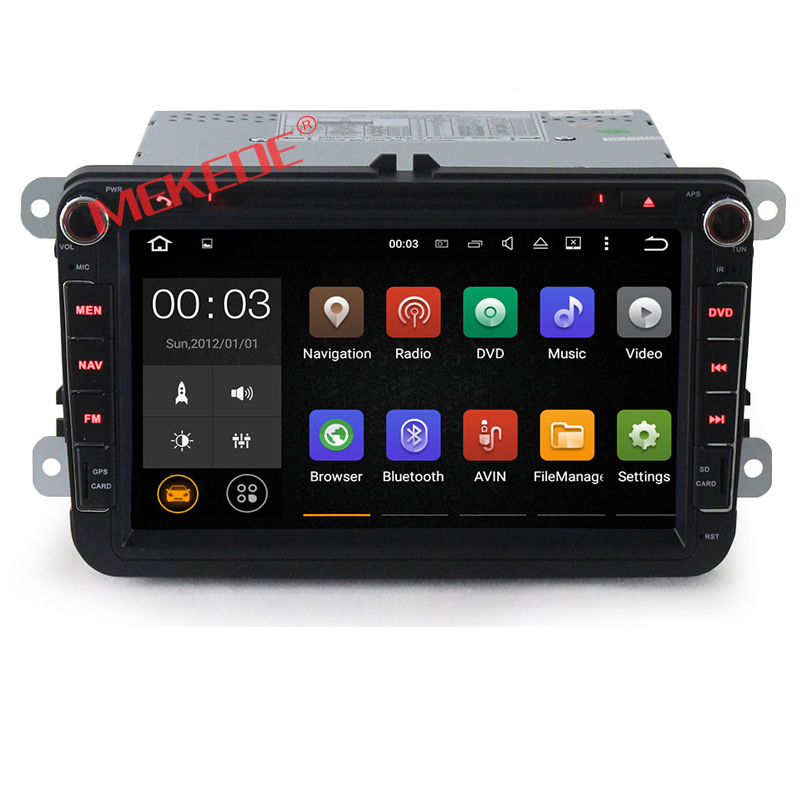 2Din Free shipping Android7 1 2G RAM font b Car b font Multimedia player for VW