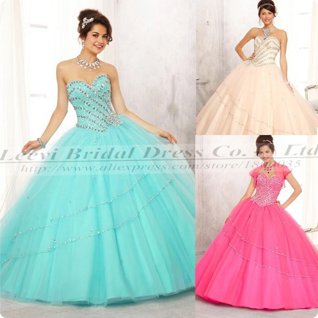 Aliexpress.com : Buy Crystal Sweet 16 Dresses Hot Pink Two Piece ...