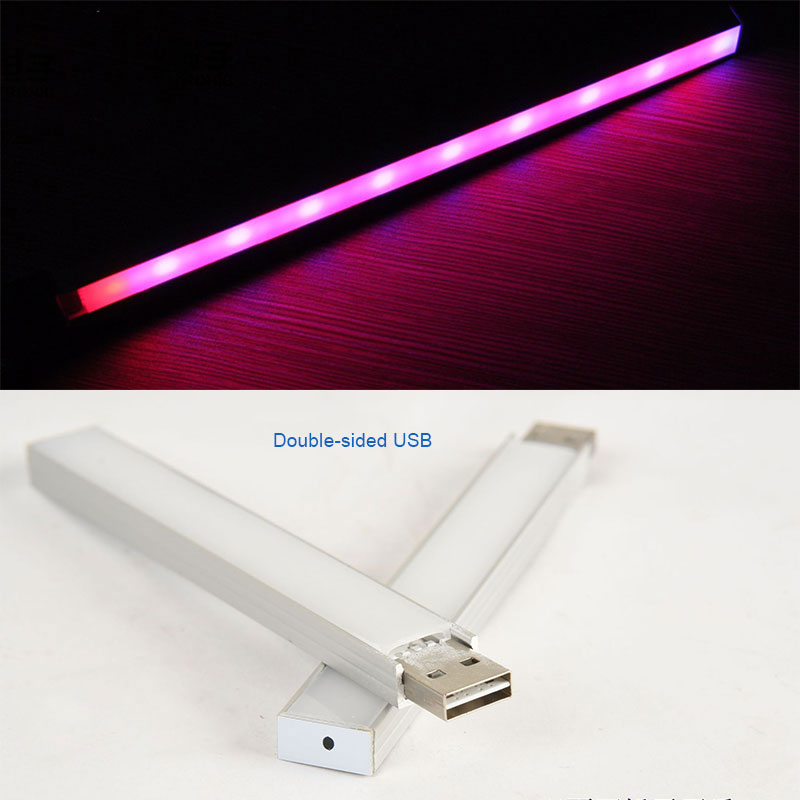 14LED/27 LED Grow Light USB Red And Blue Hydroponic Growing Plant Light Bar For Desktop Flower Plant Growth DC 5 V