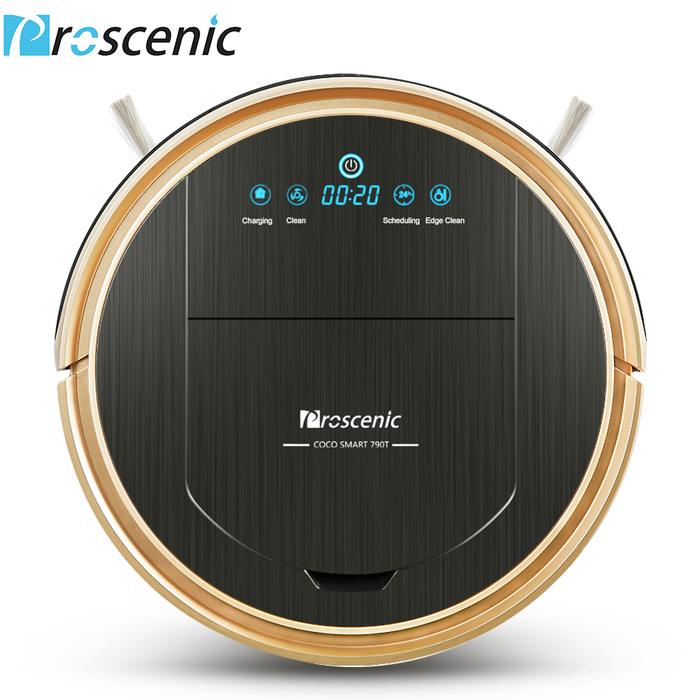 Proscenic 790T Robot Vacuum Cleaner Wifi Connected Home Automatic Sweeping Dust Mopping APP Smart Planned Vacuum Cleaner