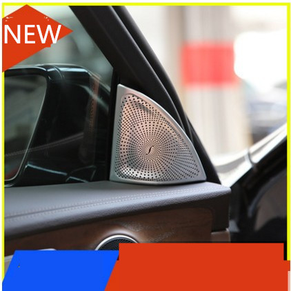 Car door Loudspeakers loud speaker cover Trim Cover For Mercedes benz 2016 E Class W213 E200l E300l car front fog lamps cover grille slats car fog lights cover decoration strips car styling for mercedes benz e class w213 2016