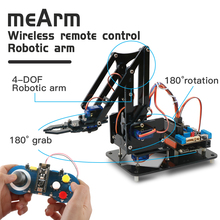 Keywish Diy Robotic Arm Claw kit for Arduino R3,High Hardness Acrylic,Support Scracth Programming,PS/2.4G Wireless Control