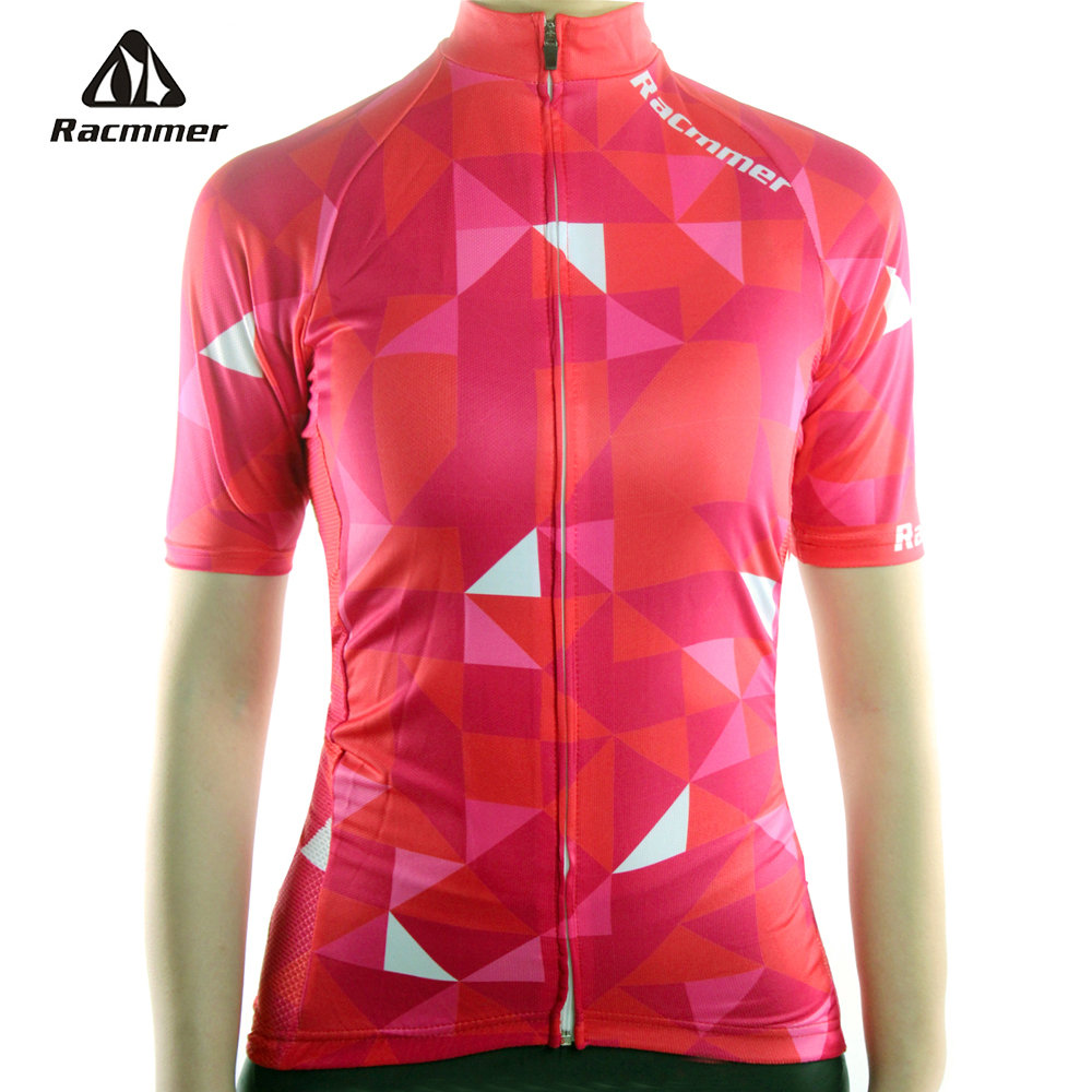 цена на Racmmer 2018 Breathable Cycling Jersey Women Summer Mtb Cycling Clothing Bicycle Short Maillot Ciclismo Bike Clothes #NS-01
