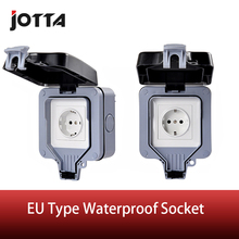 IP66 outdoor / bathroom waterproof wall switch European standard socket  16A 220-250V