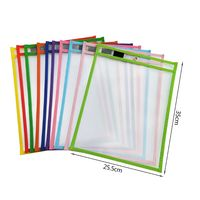 10Pcs  File Folder Document Bag For Reusable Writing And Wiping Bags For Office And School Supplies
